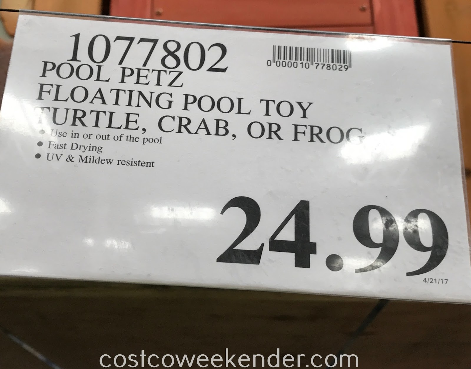 Deal for the Pool Petz Floating Pool Toy at Costco