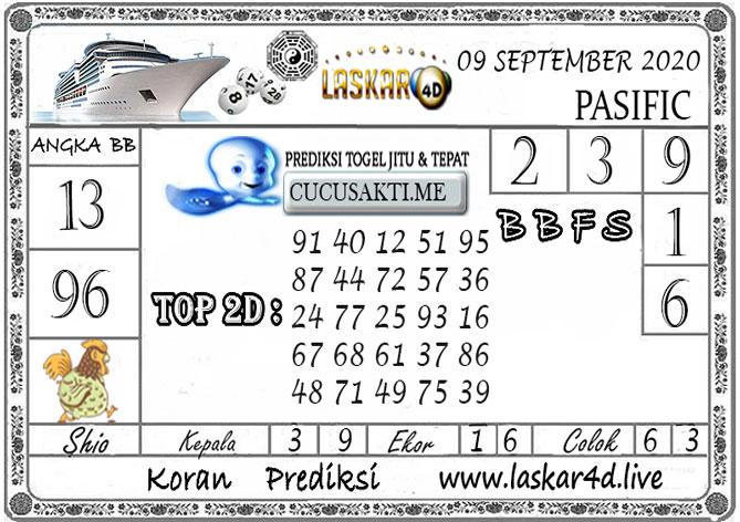 Prediksi Togel PASIFIC LASKAR4D 09 SEPTEMBER 2020