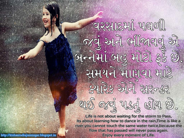 Gujarati Suvichar On Rain