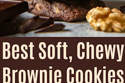 BEST FUDGY CHEWY CHOCOLATE BROWNIE COOKIES