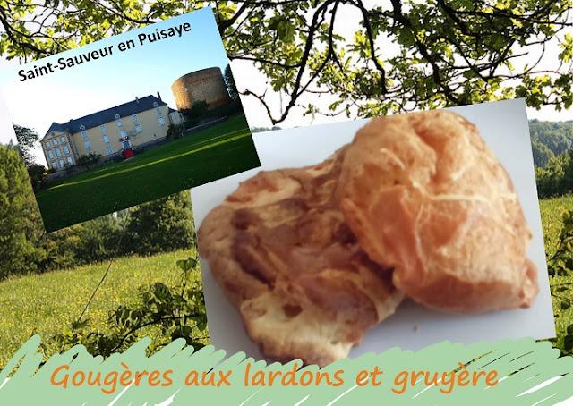 Gougères au gruyère et aux lardons, cuisine de Bourgogne, Pays de Puisaye