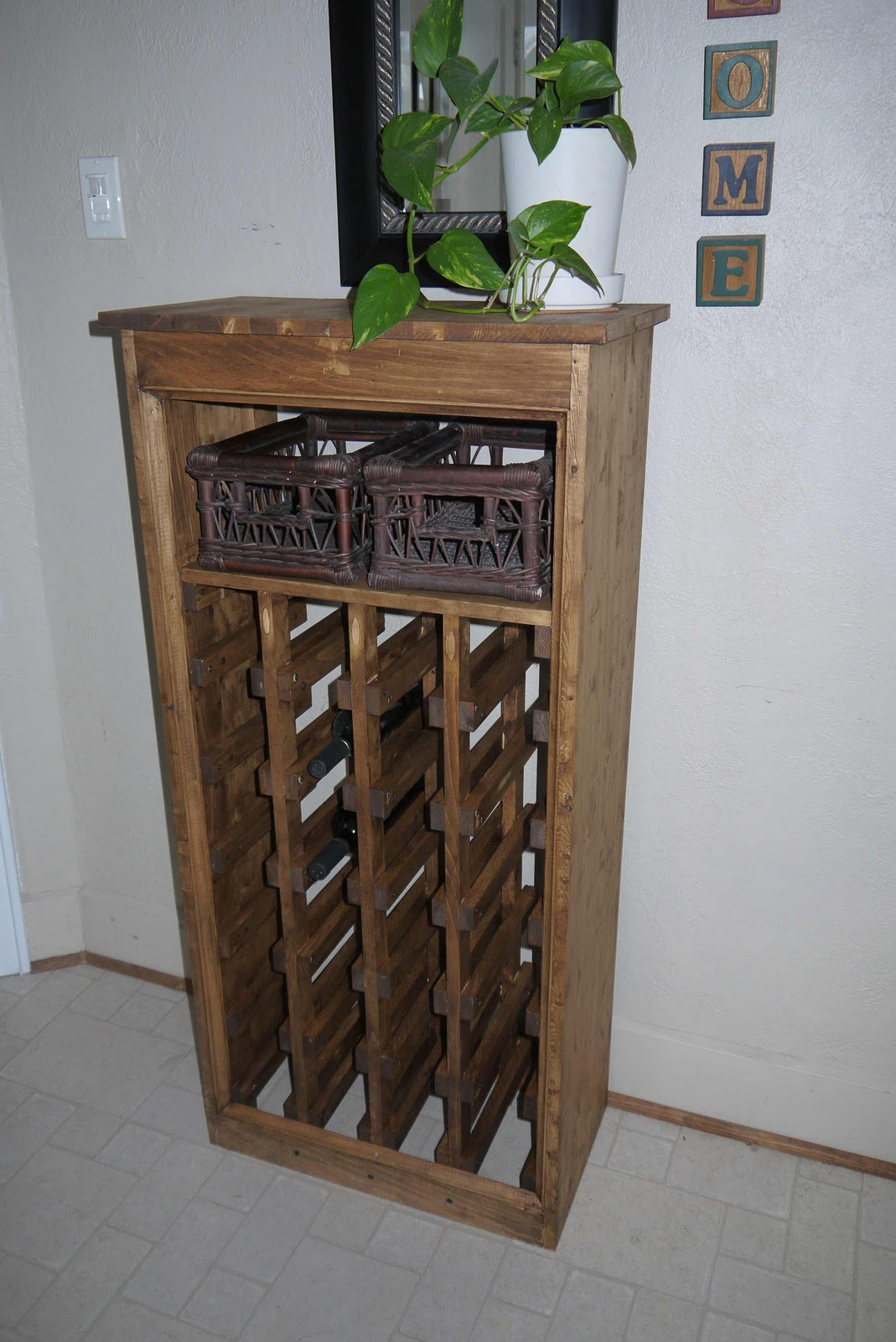 Diy Wine Cabinet Plans Rhubarb Diaries Diy Wine Rack Completed