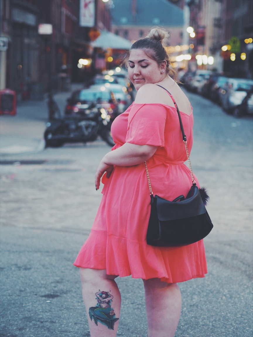 yours clothing coral frill hem dress review cardifforniagurl.co.uk