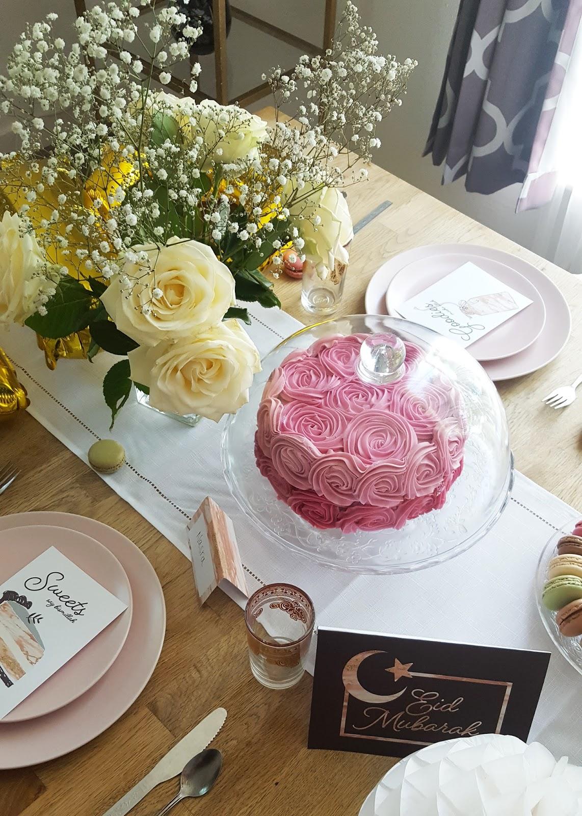 pink rose cake white roses