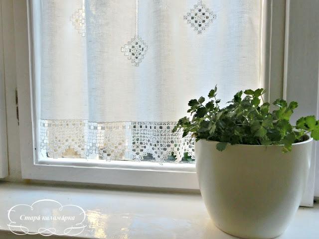 занавеска купить, занавески на кухню, маленькая занавеска, занавеска с вышивкой