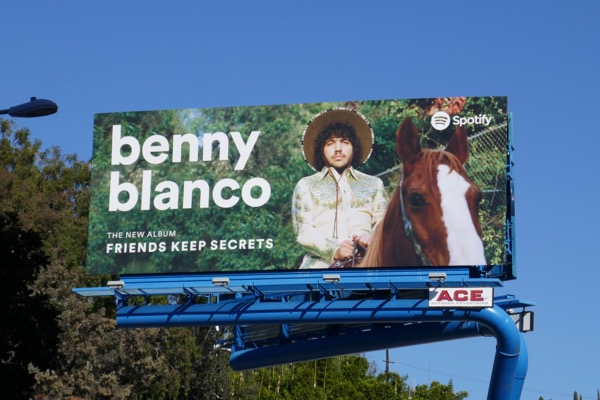 Benny Blanco Friends keep secrets Spotify billboard