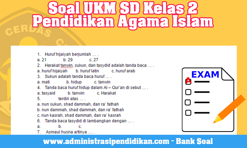Soal UKM SD Kelas 2 Pendidikan Agama Islam