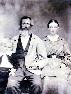 Joshua, Sarah, and young Potter Brown of Kerrville, 1873