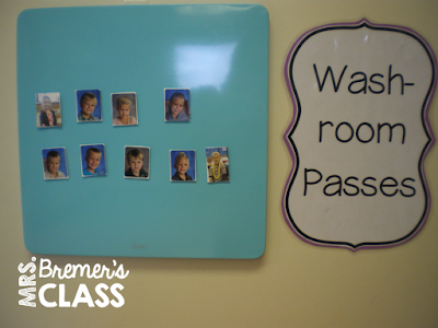 Classroom Management Tips for washroom use- great ideas!