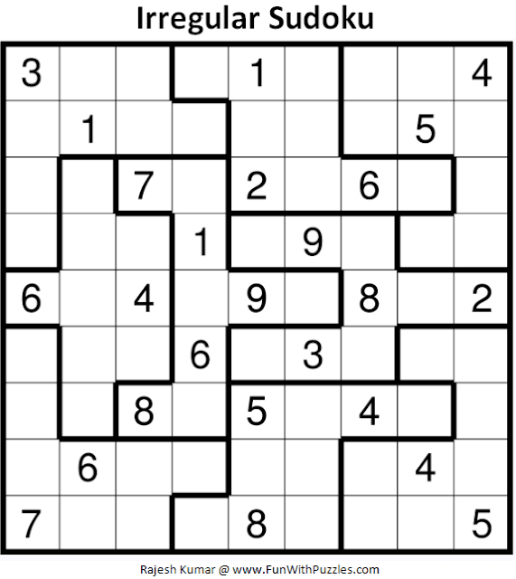 Irregular Sudoku Puzzle (Fun With Sudoku #356)