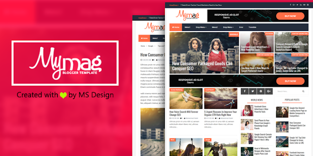Itu adalah template blogger majalah profesional terakhir kami yang dirancang. Setelah itu, sekarang kami berbagi template blogger Magazine yang indah, profesional dan berkualitas tinggi. Kami menamakannya My Mag.