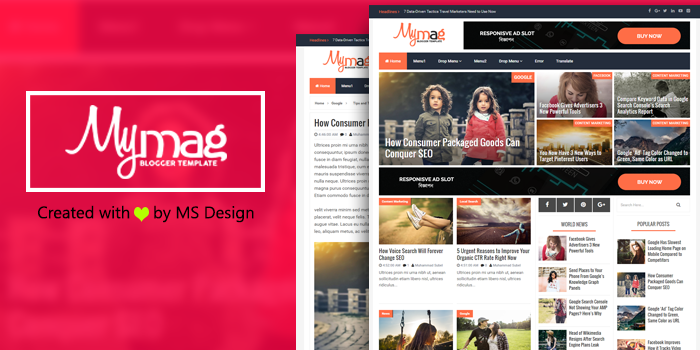 My Mag Responsive Magazine Blogger Template