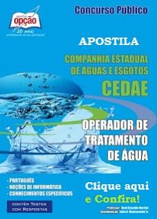 Apostila nova concurso Cedae Operador de tratamento de água.