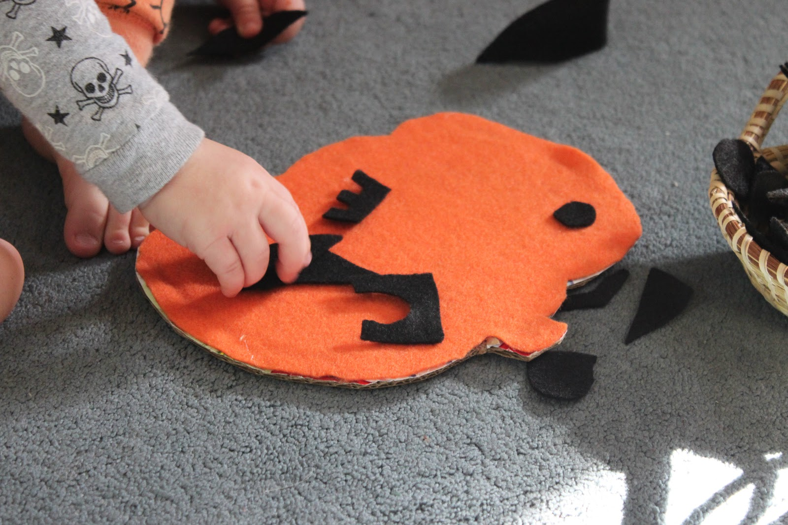 Z Is For Zel Jack O Lantern Activity With Felt
