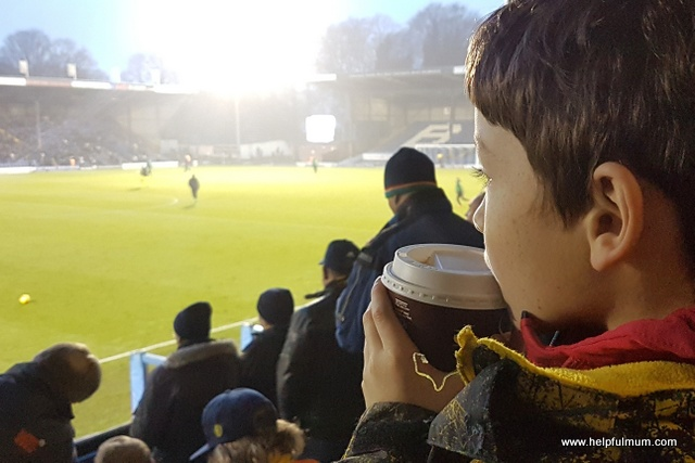 Boy watching Oxford United