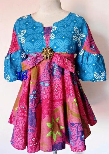 Contoh Desain Baju Hamil Batik Muslim Terbaru