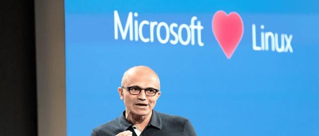 Microsoft  e Linux de mãos dadas