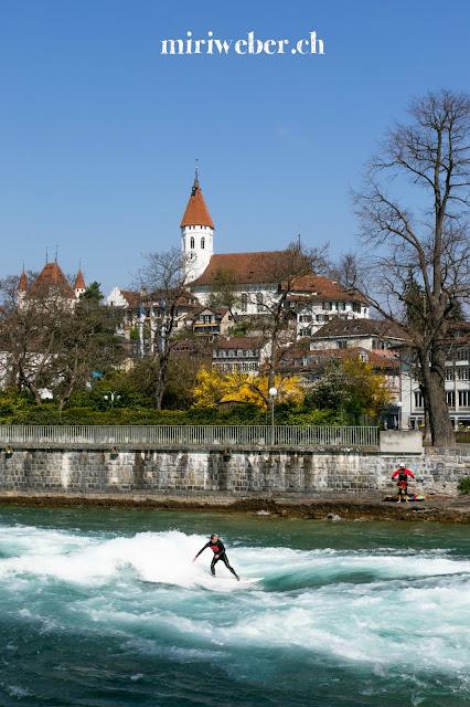Schleuse Thun,  Schweizer LittleCITY Guide, Heimat, Schweizer Stadt im Berner Oberland