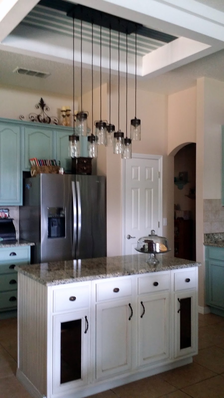 I Get So Many Questions About Our Light Fixture. It Is One Of My Favorite  Pieces In My Kitchen! What I Really Love About It Is You Can Adjust The  Height Of ...