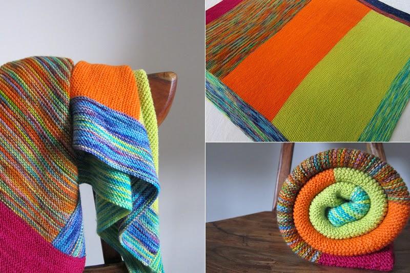 mes favoris tricot crochet mod le gratuit un plaid color au tricot. Black Bedroom Furniture Sets. Home Design Ideas