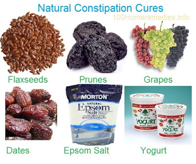 Natural foods good for constipation cure