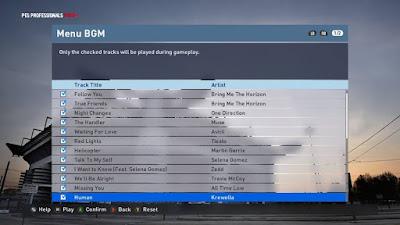 Lagu PES 2016 Terbaru V28