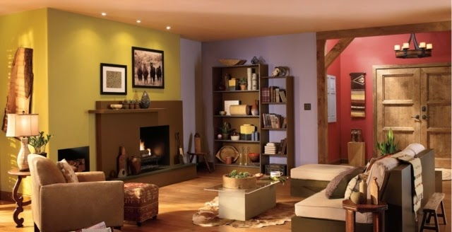 Pintar salas colores - Paredes pintadas de dos colores ...
