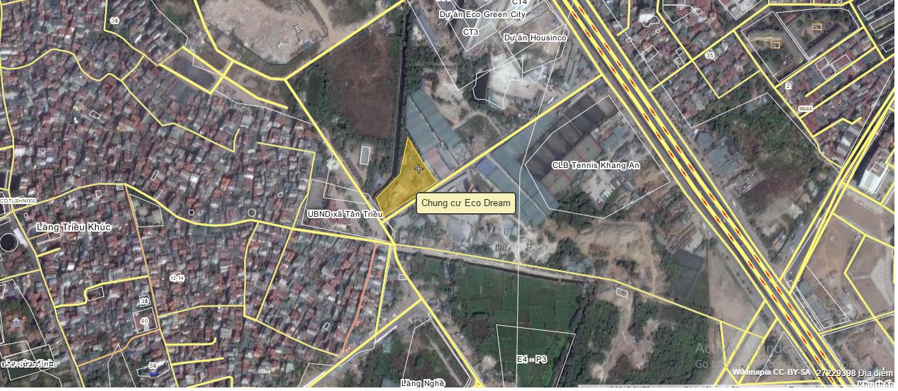 Vị trí lô đất chung cư Eco Dream trên bản đồ vệ tinh