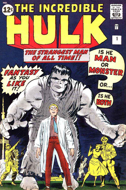 Incredible Hulk v1 #1, 1962 marvel silver age comic book cover art by Jack Kirby
