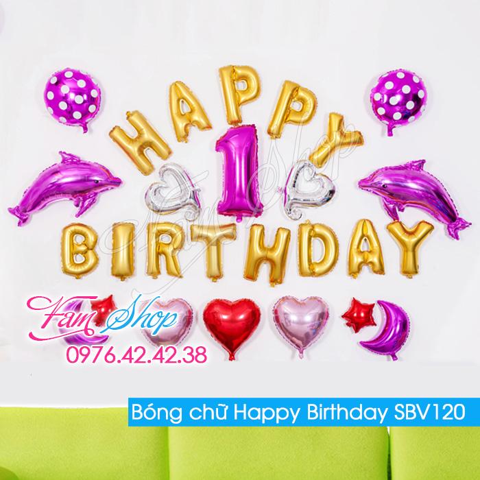 Bong chu Happy Birthday SBV120