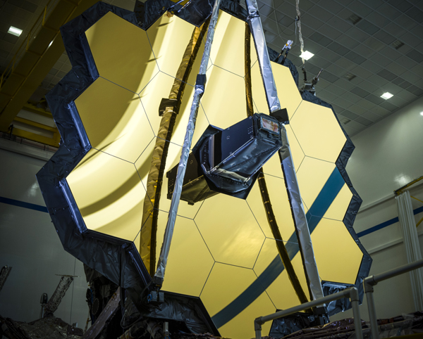 A close-up of the primary mirror on NASA's James Webb Space Telescope...at the Northrop Grumman facility in Redondo Beach, California.