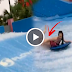 WATCH: Sexy Lady Suffered Wardrobe Malfunction While Surfing in a Water Park!