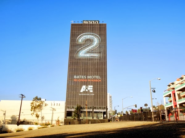 Giant Bates Motel season 2 billboard