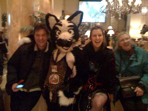 Alessandro Rizzi, Carinna Parraman, Mary McCann, and a Furry
