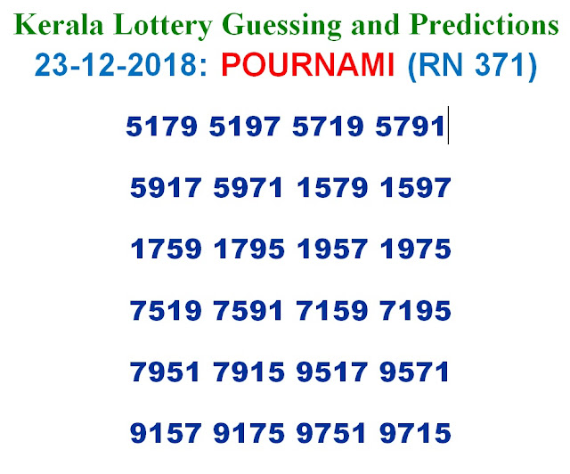 23-12-2018 POURNAMI Lottery RN-371 Results Today