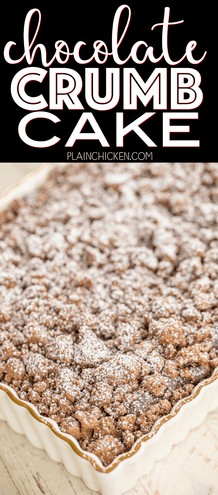 Chocolate crumble cake recipe