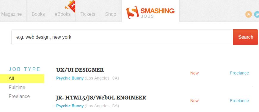 Smashing jobs