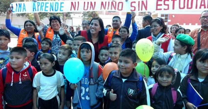 MINEDU inicia campaña para que ningún niño se quede sin estudiar en Lima Metropolitana - www.minedu.gob.pe
