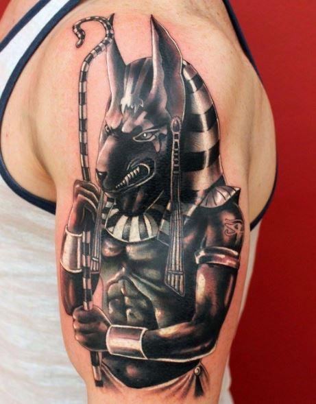 Jackal Head Tattoo 110+ Egyptian Anubis T...
