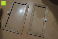 Türe: Küchenschrank Wandschrank Hängeschrank 4 Haken 4 Schubladen 2 Glastüren Schrank