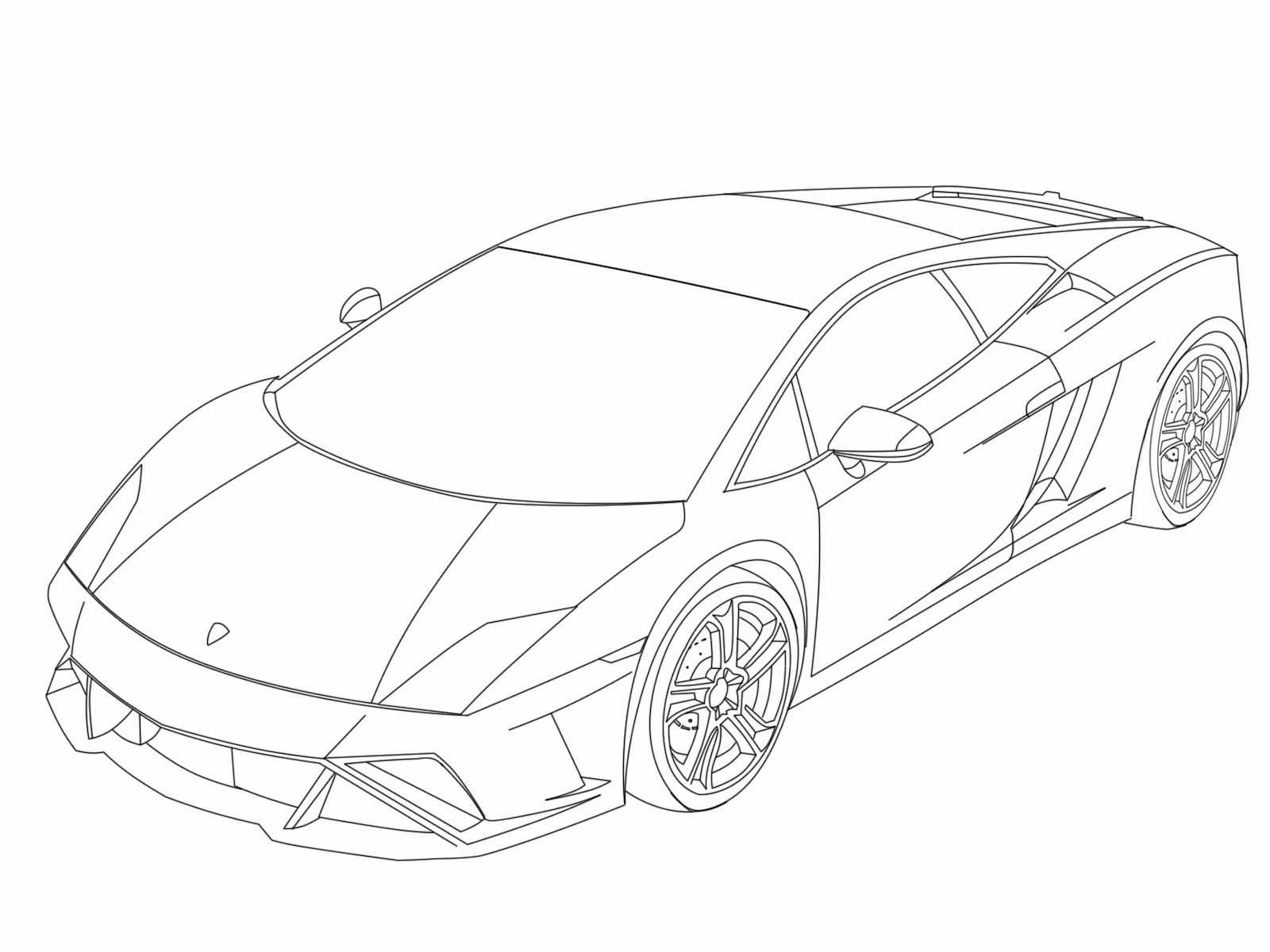 Gambar Mewarnai Mobil Lamborghini Gambar Mewarnai Hd