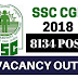 SSC CGL 2018 Vacancies Out | 8134 Vacancies! Click Here!