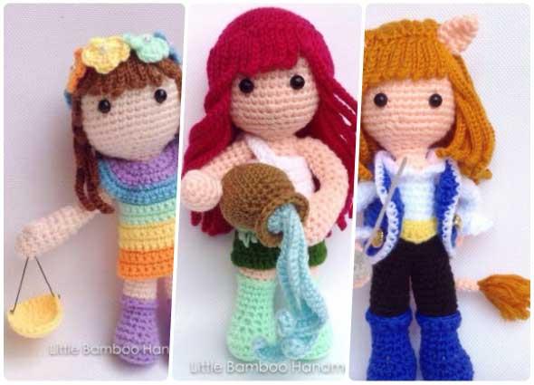 amigurimis a crochet, colección amigurimis, juguetes ganchillo