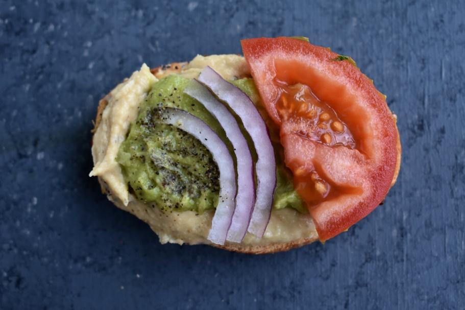 Guacamole Hummus Toast