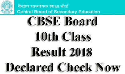 CBSE 10th Class result 2018