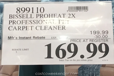 Deal for the Bissell ProHeat 2x Professional Pet Carpet Cleaner at Costco