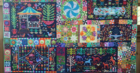 Pandemonium by Kim McLean quilt finished