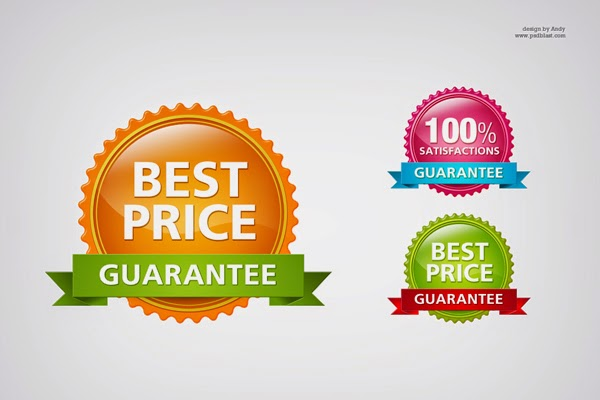 Glossy Guarantee Badge PSD