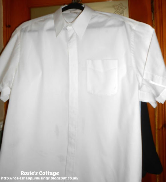 Hubby's shirts ironed for the week ahead
