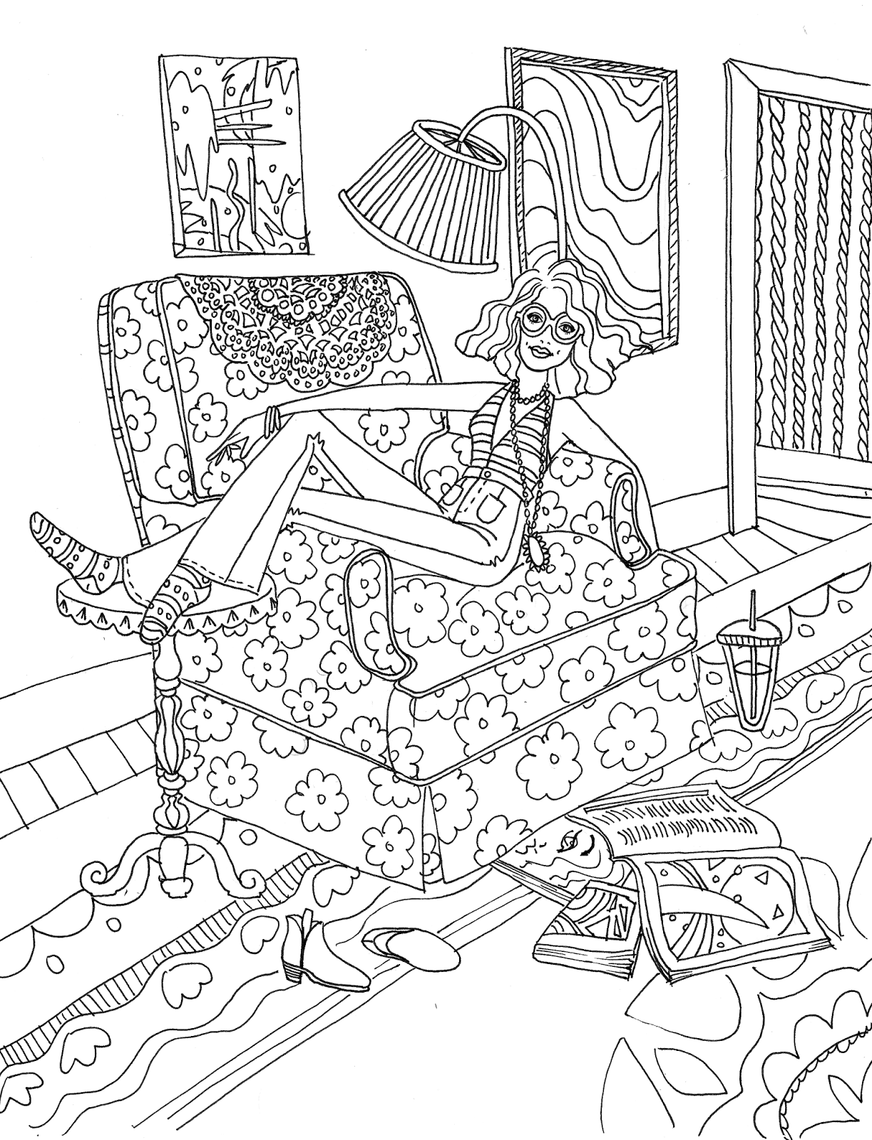 Coloring page inspired by laura callaghan